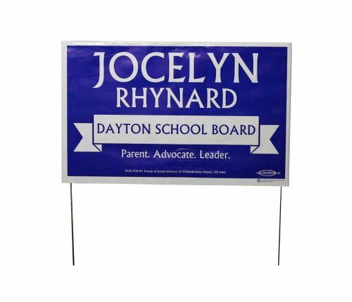 Yard signs poly-bag with wire frame